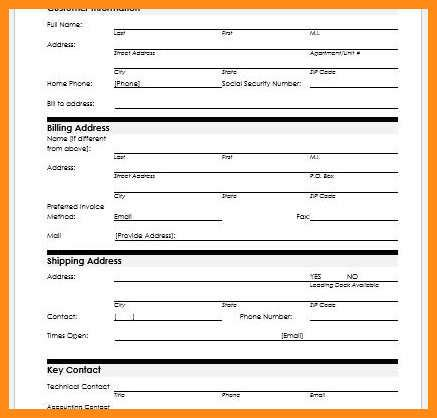 8 Customer Information Form Template Microsoft Word Odr2017 Customer Details Form Template