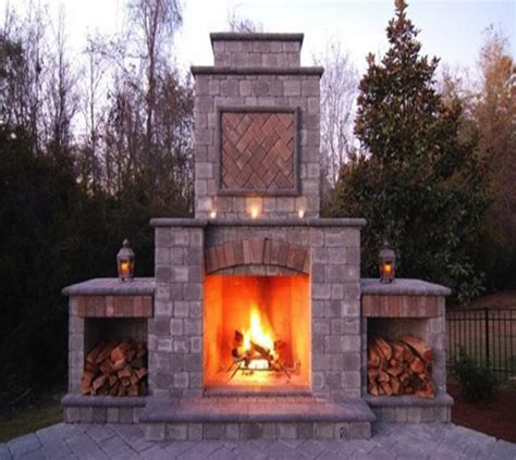 outdoor fireplace installation in michigan cba outdoors