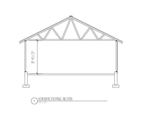 garage roof truss design detached garage studio conversion musicplayer forums
