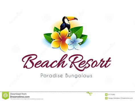 beach resort logo stock vector image 51775285