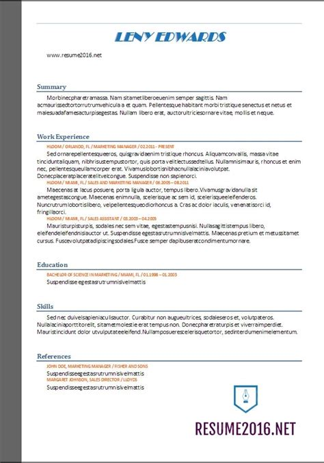 best resume format in word free best resume template 2017 learnhowtoloseweight net