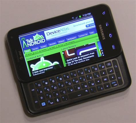 Android Glide by At T Samsung Captivate Glide Review