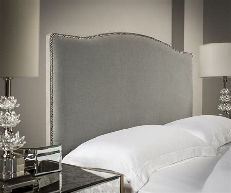 fabric headboards uk charlotte studded headboard upholstered headboards fr sueno