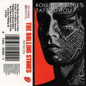rolling stones tattoo you songs the rolling stones you cassette album reissue