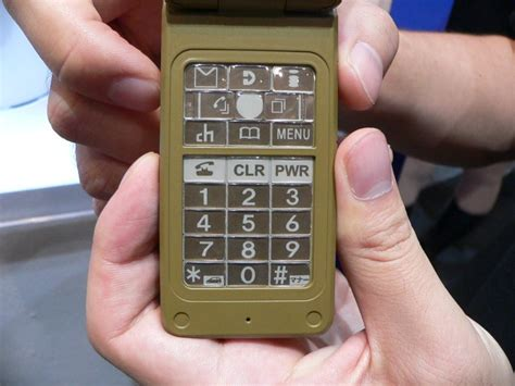 How To Make A Paper Phone That Slides - ceatec ntt docomo s mobile phone uses sipix s e paper
