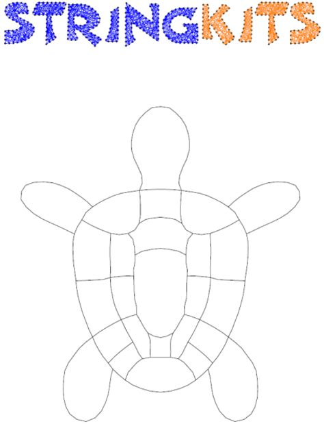 Free String Patterns To Print - turtle string pattern template stringkits