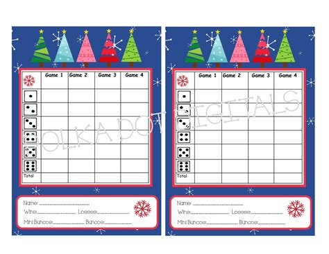 printable christmas bunco cards buy 2 get 1 free starry night christmas trees complete set