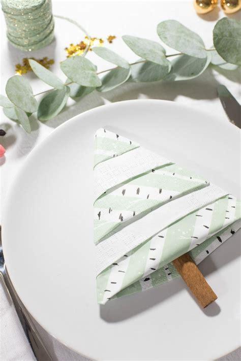 serviette tannenbaum falten tannenbaum servietten falten eine einfache anleitung