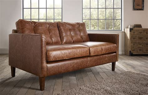 Leather Sofa Small by Cromer Small Leather Sofa The Chesterfield Company