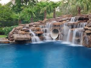 Pictures Of Backyard Waterfalls And Streams Swimming Pool Waterfalls Pool Rock Waterfalls Platinum