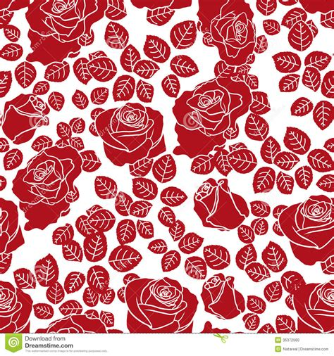 background pattern drawings red roses seamless pattern stock vector image of painting