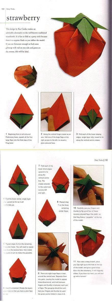 tutorial origami strawberry 393 best origami diagram images on pinterest origami