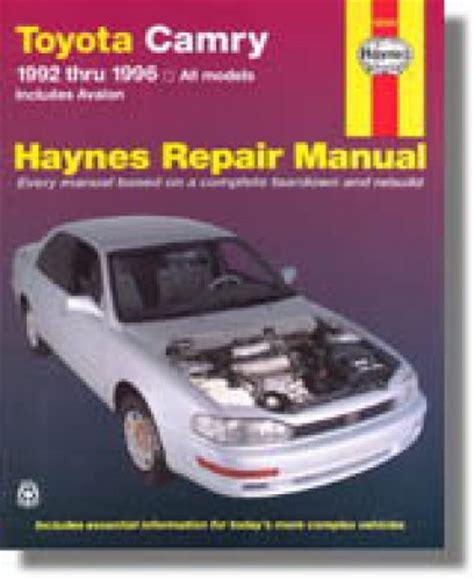 service manual hayes auto repair manual 1996 buick century regenerative braking service haynes toyota camry avalon 1992 1996 auto repair manual