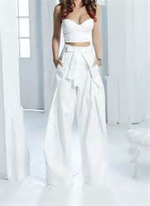 London Duvet Set Solace London Stellis Wide Leg Trouser White