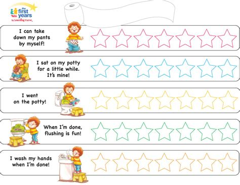 Toilet Reward Chart Potty Chart Boys
