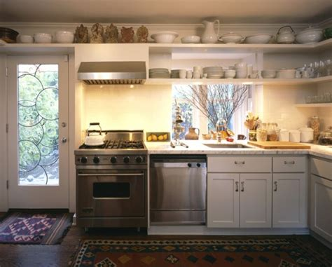 area above kitchen cabinets kitchen floating shelves design ideas