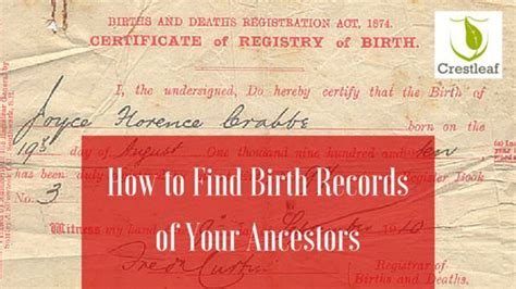 How To Find Birth Records 107 Best Images About Geneology On Birth