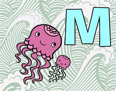 desenho de letra m pintado desenho de m de medusa pintado e colorido por usu 225 n 227 o registrado o dia 28 de outobro do 2015