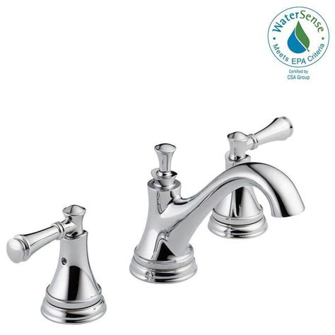 delta chrome kitchen faucets delta silverton 8 in widespread 2 handle bathroom faucet
