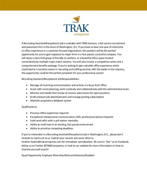 Recruiting Assistant by Trak Recruiting Assistant