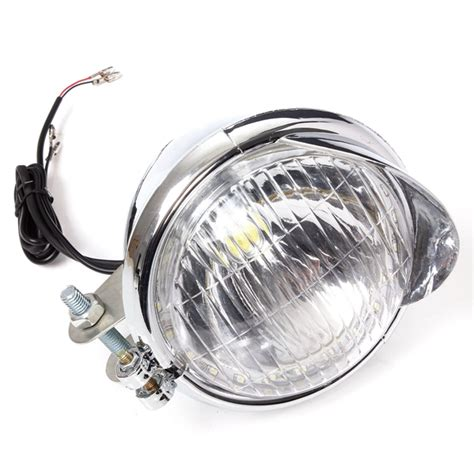 Led Motorcycle Headl accessories 12v universal motorcycle 25 leds headlight l chrome was listed for