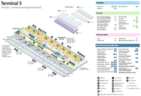 heathrow terminal 5 floor plan map of terminal 5 heathrow