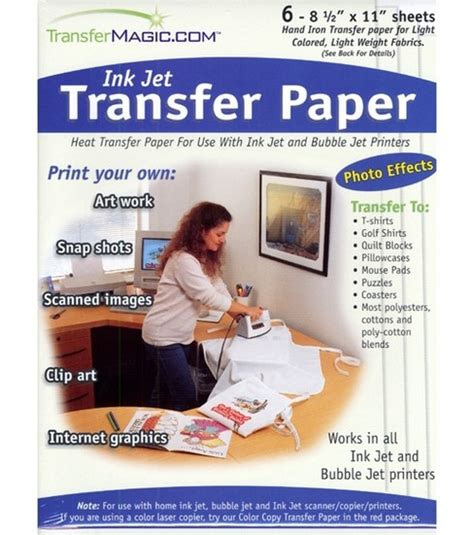 How To Make Transfer Paper - photo effects ink jet transfer paper 8 1 2 x11 6 pkg
