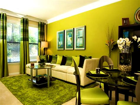decoration home and living green brown living room ideas modern house