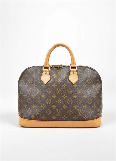 brown louis vuitton monogram canvas alma pm handbag