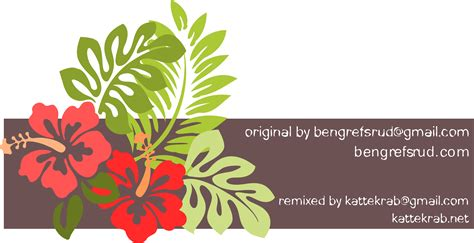 clipart hibiscus remixed