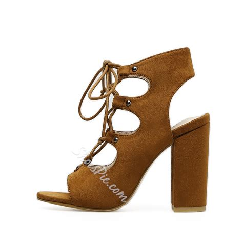 Chunky Heel Lace Up Shoes lace up chunky heel casual s shoes shoespie