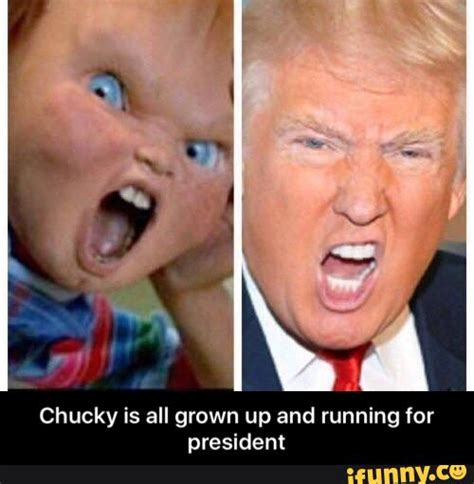 donald and chucky doll director says next child s play will be chucky on drugs