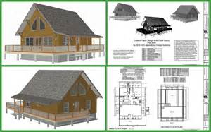 cottage blueprints cabin plans and designs