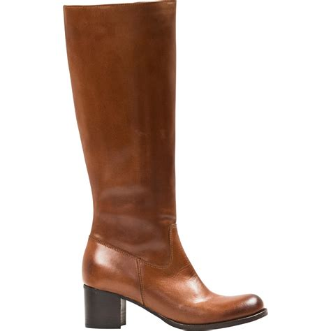 Light Brown Boots by Light Brown Quot Cuoio Quot Nappa Leather Classic Knee High