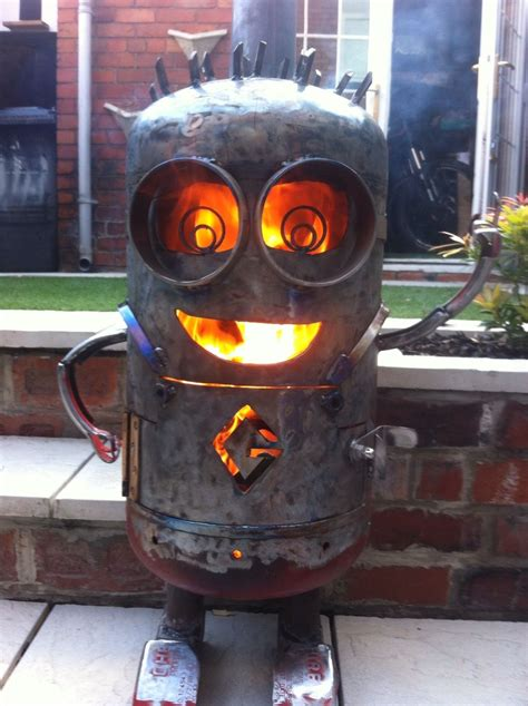 minion chiminea minion log burner humor rocket