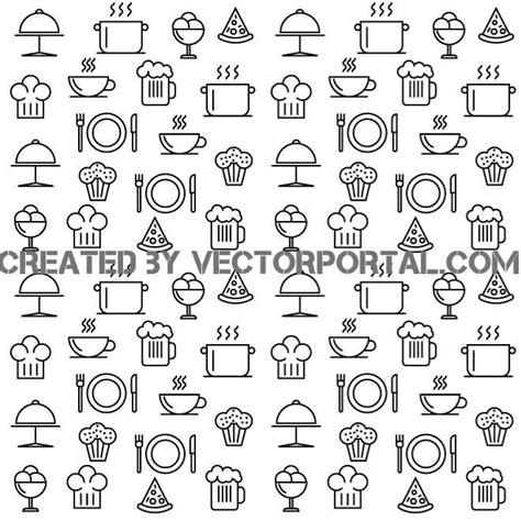 seamless pattern food tacos restaurant logotype download at vectorportal