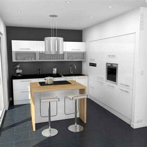 poign馥s meubles cuisine cuisine blanche moderne fa 231 ade stecia blanc brillant