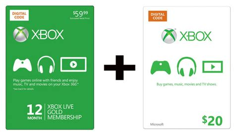 Where To Get Xbox Live Gift Cards - buy a year of live gold get a 20 xbox gift card