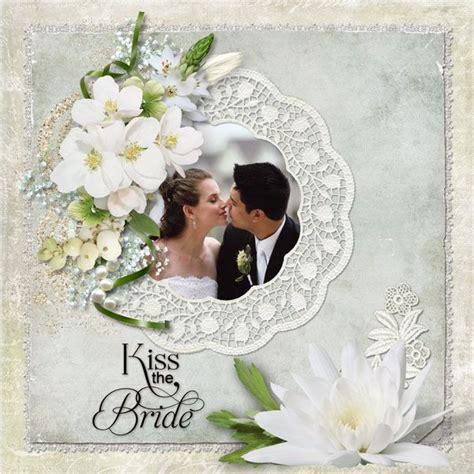 scrapbook layout gallery wedding scrapbook layouts kiss the bride digital