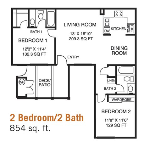 2 bed 2 bath floor plans 2 bedroom 2 bath floor plans rooms