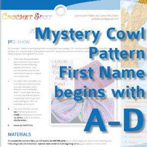 pattern first name crochet spot 187 blog archive 187 the oscar mystery cowl