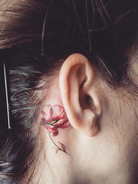 ear tattoos 15 tiny ear tattoos that are even better than piercings