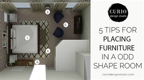 Design Your Own Bathroom Layout by How To Arrange Furniture In An Odd Shaped Room Curio