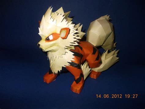 arcanine papercraft by sabi996 on deviantart