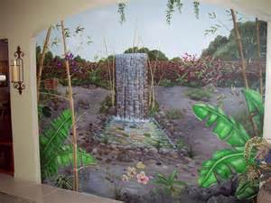 trompe l oeil cusom hand painted murals and finishes flower theme decoration hand painted wall murals