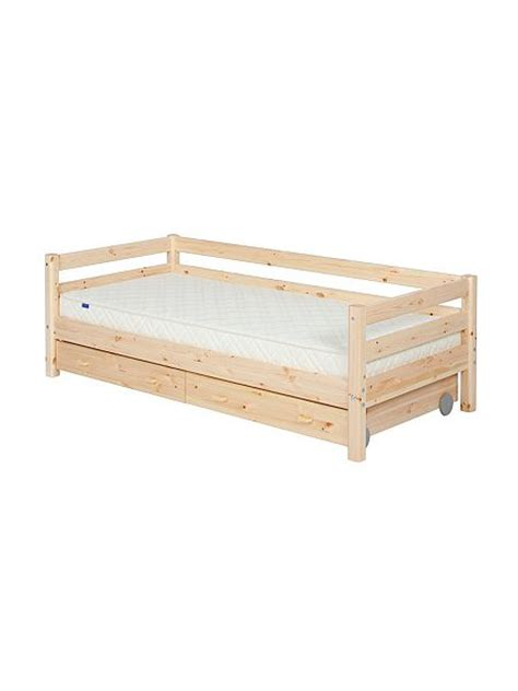 Flexa Mattress Size by Flexa Single Bed With Safety Rail And Drawers House Of