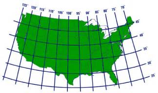 usa map with cities and latitude and longitude