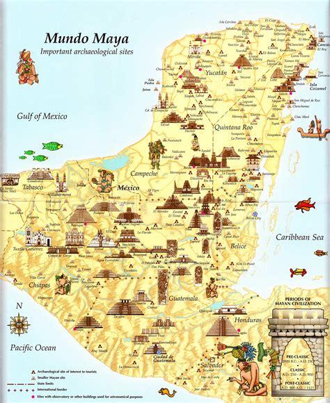 mayan ruins map tourist map of mayan cities archaeological
