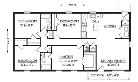 house measurements simple house floor plan with dimensions