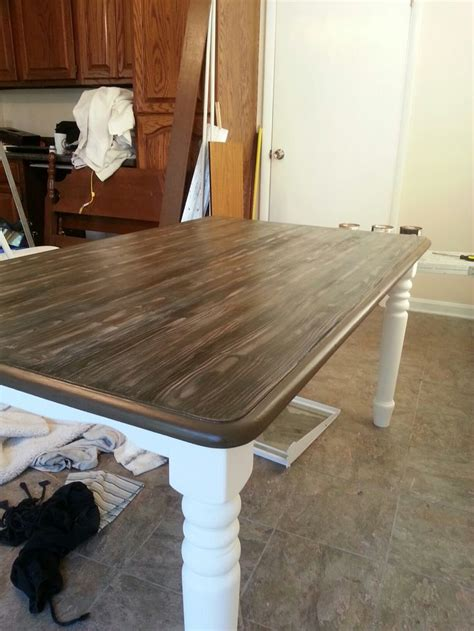 diy chalkboard kitchen table refurbished table with faux finish of barnwood using